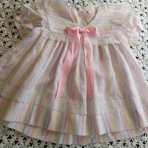 Vintage pastel striped Dress